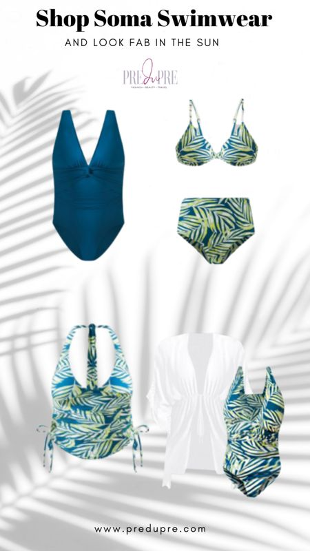 Soma swimwear on sale for 30% off!  Palm leaf bikini set - great for pool or beach!  Mix and match with solid top or bottom.  Add cover up.  Soma Intimates, Soma, swimsuit, Bikini, one piece, romper, cover-up, pool outfit http://liketk.it/3gWpH @liketoknow.it #liketkit #LTKsalealert #LTKstyletip #LTKunder50 #LTKswim #LTKtravel