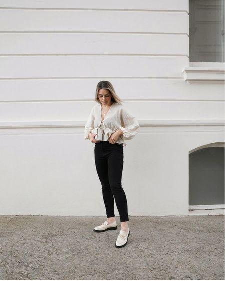 Asos, asos design, cream blouse, lace blouse, high street fashion, chic style, street style fashion, iris, ootd fashion, outfit inspiration http://liketk.it/3hOF5 #liketkit @liketoknow.it
