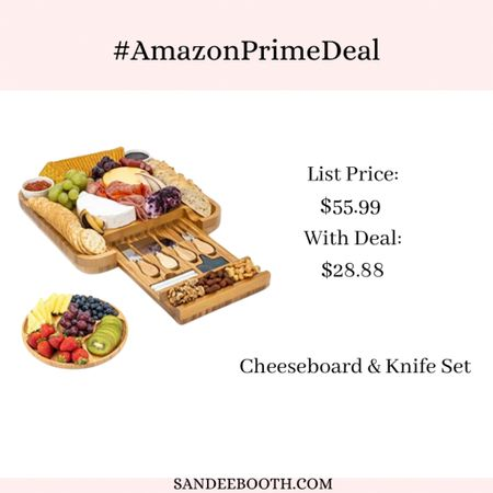 This cheese board and knife set is perfect for entertaining! 🧀  #primedeals #amazonprime   #LTKsalealert #LTKunder50 #LTKhome