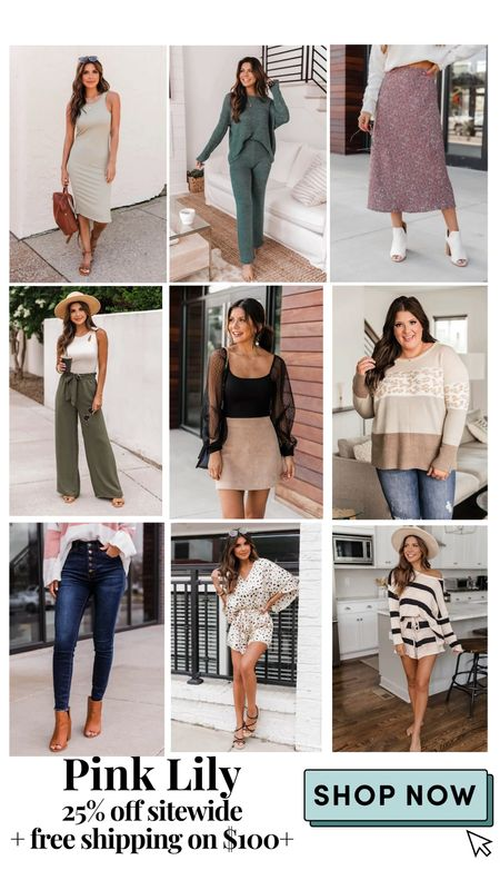 The Pink Lily Boutique 25% off sitewide plus free shipping on $100+   #LTKstyletip #LTKSale