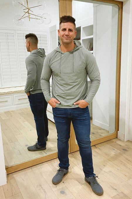 Men's #nsale hoodie pullover jeans gray sneakers Nordstrom anniversary sale   #LTKunder100 #LTKmens #LTKsalealert