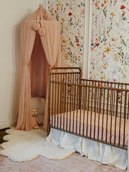 Whimsical playful Baby girl nursery  Nursery design, baby girl nursery, playroom , nursery details , girl nursery , floral nursery , wallpaper paneling   #LTKfamily #LTKkids #LTKhome