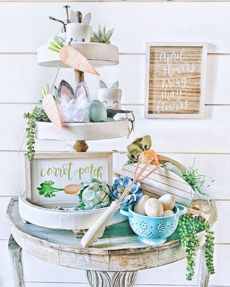 Spring Tiered Tray Decor #easterdecor #springdecor #tieredtraydecor #farmhousedecor #shiplapwalls #magnoliastyle #targetdollarspot  http://liketk.it/2ATCt #liketkit @liketoknow.it #LTKfamily #LTKhome #LTKkids #LTKspring #LTKunder50 #LTKunder100 @liketoknow.it.family @liketoknow.it.home Shop my daily looks by following me on the LIKEtoKNOW.it app