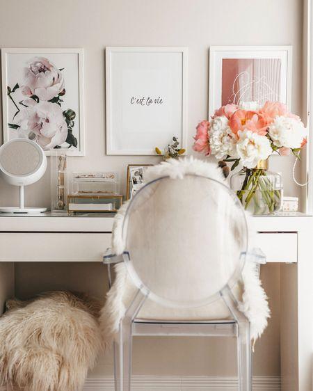 Vanity table organization white & gold  http://liketk.it/2CwNo #liketkit @liketoknow.it #LTKbeauty #LTKhome Download the LIKEtoKNOW.it app to shop this pic via screenshot