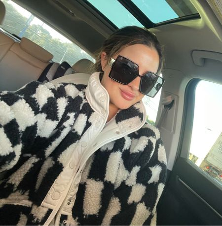 Free people hit the slopes checker jacket amazon Dior dupe sunglasses   #LTKstyletip #LTKSeasonal