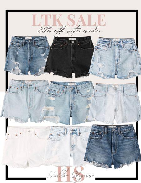 Denim shorts  Jean shorts  Vacation  Abercrombie   #LTKSeasonal #LTKDay #LTKtravel