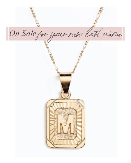 The perfect pendant to state your last name OR someone you love. ❤️  #LTKfamily #LTKsalealert #LTKwedding