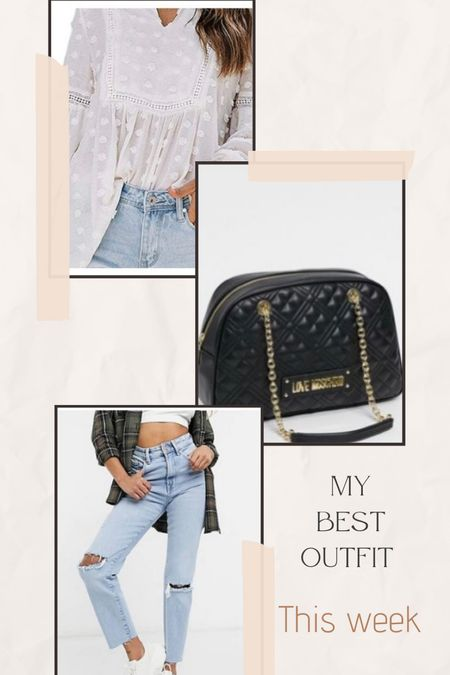 Best outfit this week my loves ❤️❤️  #bag #moschinobag #jeans #whiteshirt  #LTKitbag #LTKworkwear #LTKunder100