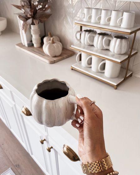 Coffee bar, mug rack, fall decor, coffee mug, pumpkin mug, Stylinaylinhome  Follow my shop on the @shop.LTK app to shop this post and get my exclusive app-only content!  #liketkit  @shop.ltk http://liketk.it/3nlMg