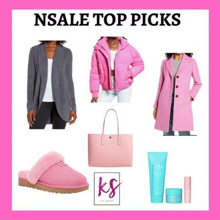 Barefoot dreams cardigan Pink coat Pink puffer jacket  Tula beauty set Pink ugg slippers Pink Kate spade tote   http://liketk.it/3jKw2 #liketkit @liketoknow.it #LTKsalealert #LTKunder50 #LTKunder100