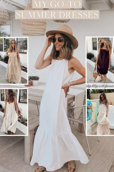 My go to summer dresses // white dress //   #LTKstyletip #LTKunder100
