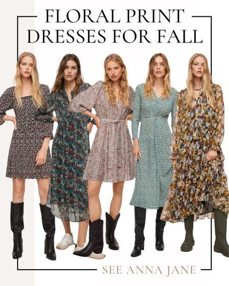 Floral Print Dresses For Fall 🍂  #floralprintdress #falldress #floraldress #mango #fallfashion #falloutfits #fallstyle #falloutfitideas #maxidress #minidress  #LTKstyletip #LTKunder100 #LTKSeasonal