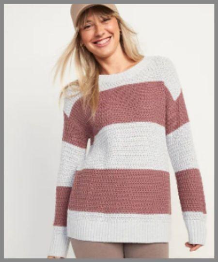old Navy textured tunic sweater.  #LTKSeasonal #LTKsalealert #LTKunder50