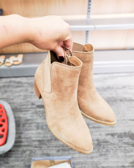 target trends, fall ankle boots, booties, beige, brown, true to size, fall outfits, teacher outfits, target looks   #LTKstyletip #LTKunder50 #LTKSeasonal