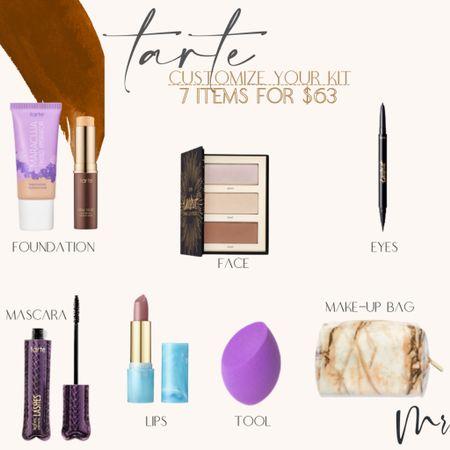 http://liketk.it/3hPhh #liketkit @liketoknow.it #LTKbeauty #LTKsalealert #LTKunder100 Tarte sale… 7 full size items for $63 plus free shipping #tarte #tartesale #beautydeals #tartekit