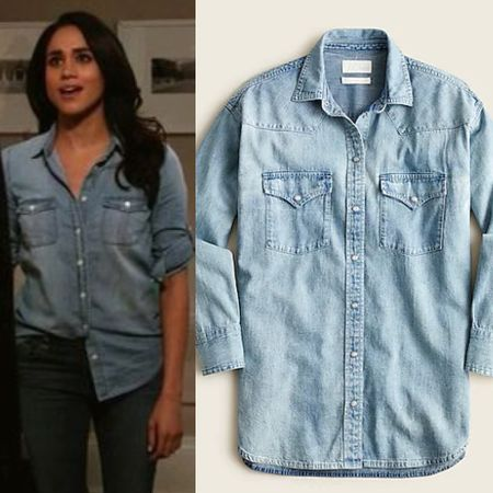 Chambray shirt #buttonup #casual #top  #LTKstyletip