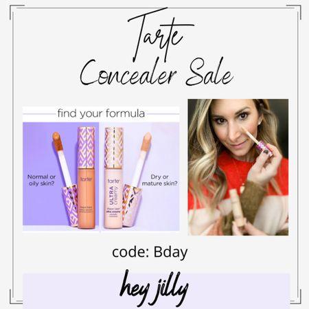 Tarte is having a concealer sale. Get 50% off with code bday when you log in. I love the new shape tape creamy formula. I wear shade 22N.   #LTKsalealert #LTKbeauty #LTKunder50