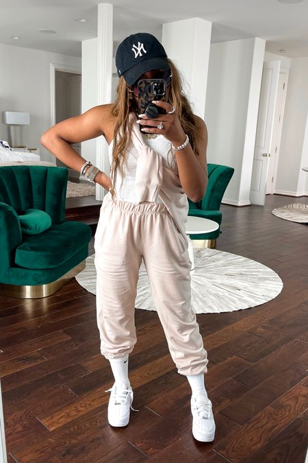 Love this sweatsuit for summer and travel! I am wearing a m in the sweatpants and a L in the sweatshirt. Also love this white tank top runs to size. @liketoknow.it http://liketk.it/3fr54 #liketkit