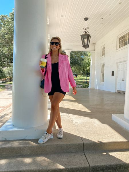 An adult onesie romper thing you need for layering this season! Will be wearing with all blazers + flannels! Whole outfit is amazon including pink blazer…. shoes are from a brand I can't link    #LTKsalealert #LTKunder50 #LTKstyletip