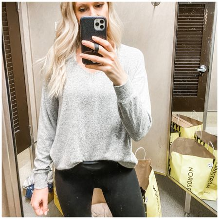 Softest ever sweater with the perf leggings. Cozy for fall.   http://liketk.it/3k7y6   @liketoknow.it   #liketkit