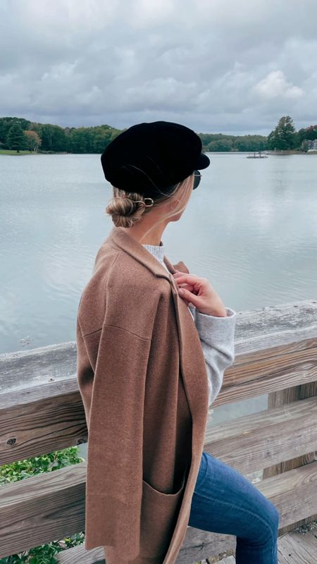 These French pins are the real MVP for muggy days when my hair won't cooperate!  Also felt very much like Kiera Knightley in Love Actually with this low bun and newsboy cap.   #LTKGiftGuide #LTKHoliday #LTKSeasonal