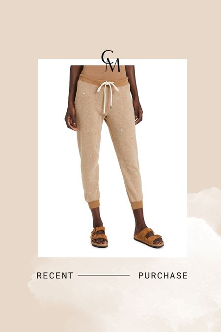 Ordered The Great sweats for postpartum in size 0. These are great for postpartum - the waist is very loose.   #LTKsalealert