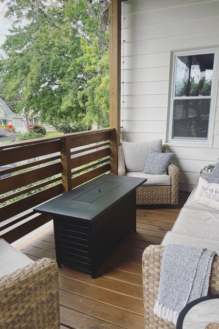 Life is better on the porch 🏡 My amazing fire pit is $150 off right now! I use it almost every night and it was worth every penny 😍  #LTKhome #LTKsalealert