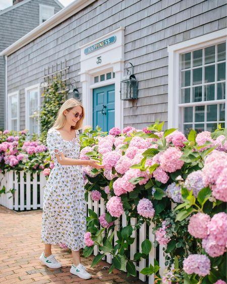 Summer wardrobe for a day spent exploring Nantucket: floral sundress, comfy canvas sneakers, and affordable sunglasses http://liketk.it/3k90O @liketoknow.it #liketkit #LTKstyletip #LTKshoecrush #LTKunder100