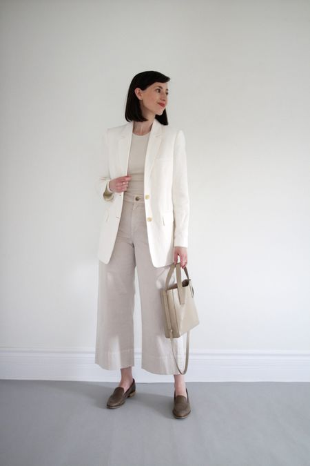 A recent look from the Style Journal.   Blazer / Bag / Shoes / Pants - old Everlane  Ribbed Long Sleeve - Kotn - Use LEEV10 for 10% Off your first order