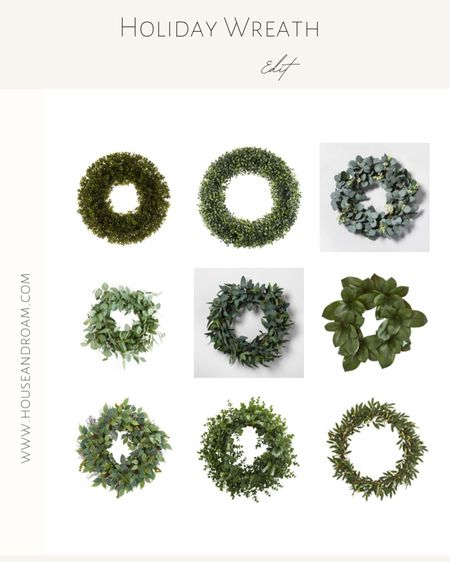 Add a simple yet modern wreath to your front door, over a mirror or even a window for a festive look. #studiomcgee #neutraldecor #holidaydecor #christmasdecorations #boxwood #wreaths #minimalisticholidaydecor http://liketk.it/30l3p #liketkit @liketoknow.it #LTKstyletip #LTKunder100 #LTKhome @liketoknow.it.family @liketoknow.it.home Shop your screenshot of this pic with the LIKEtoKNOW.it shopping app