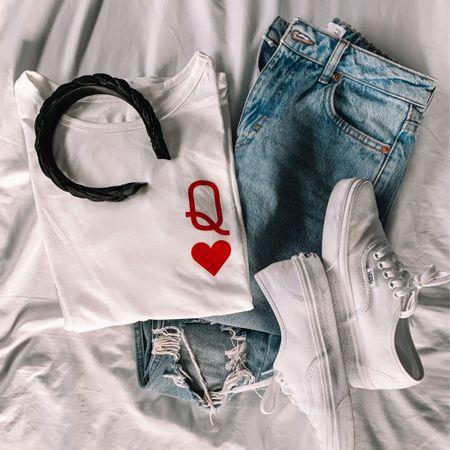 Valentines Day shirt! Inexpensive Valentines shirt. Valentines Outfit Queen of Hearts shirt. Valentines Day gifts.  http://liketk.it/35Ru7 #LTKunder50 #LTKshoecrush #LTKsalealert #liketkit @liketoknow.it