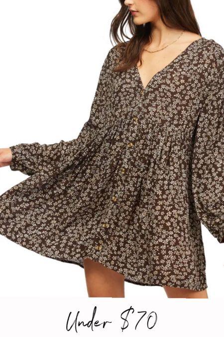 Floral dress, fall dress   #LTKunder50 #LTKstyletip