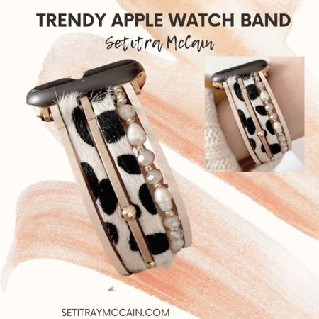 🖤 cute cow print style Apple Watch band. These are soooo pretty and I've been keeping my eyes on them! A must-have!  #LTKstyletip #LTKunder50 #LTKworkwear