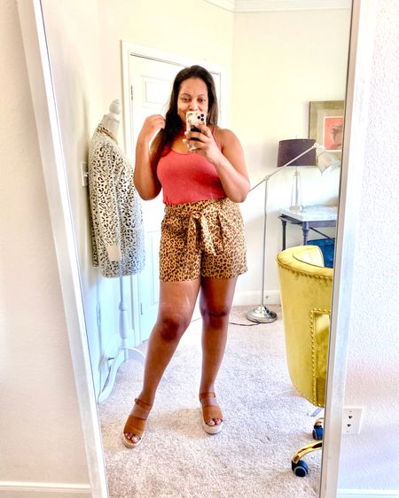 Loving these cute and comfy pull on leopard print shorts! Leopard is a neutral anyone can rock. Check them out and the sandals, too.    http://liketk.it/2UW19 #liketkit @liketoknow.it
