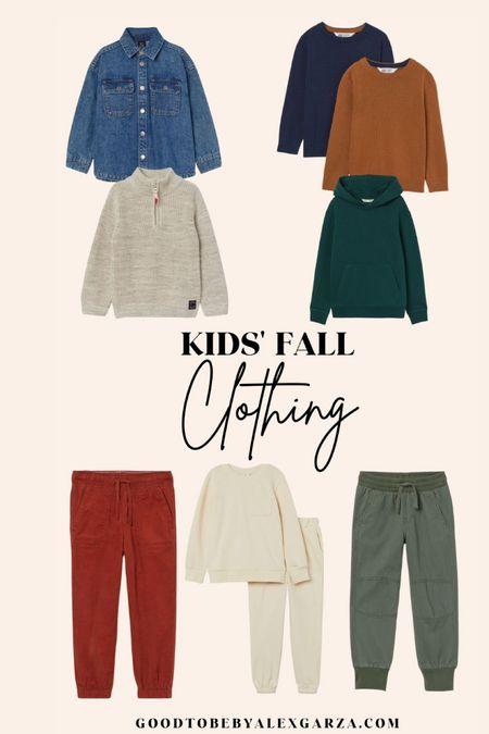 Kids fall clothing!
