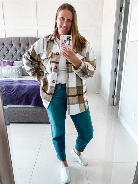 Fall outfit idea #shacket #falloutfit #jeansoutfit  #LTKsalealert #LTKstyletip #LTKSeasonal