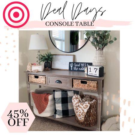 Target deal days! My entryway console table is currently 45% off!  #entrywaydecor #consoletable #targethomedecor #dealdays  #LTKsalealert #LTKSeasonal #LTKhome