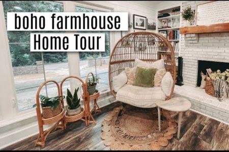 Boho Farmhouse Home Tour links   #LTKfamily #LTKhome