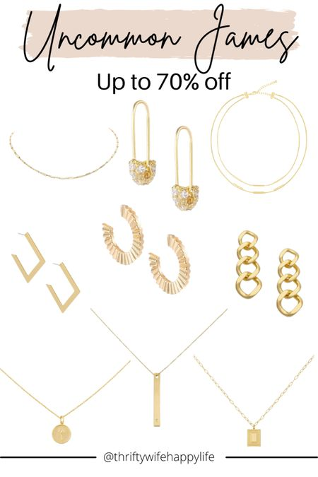 Labor Day weekend sales. Uncommon James up to 70% off jewelry! Gold jewelry favorites!   #LTKunder50 #LTKunder100 #LTKsalealert