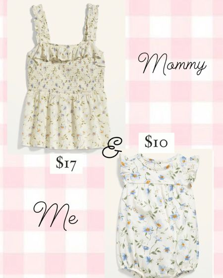Mommy & Me floral top and matching bubble http://liketk.it/3aWU2 @liketoknow.it #liketkit #LTKbaby #LTKunder50 #LTKfamily