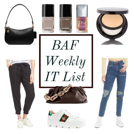 The BAF weekly IT list is here! 💃🏻 fall nail polish and handbags are hot right now! These linen joggers are also hot, and they're on major sale! 🎉 head over to the blog for all the details, or shop what's trending now right here ❤️❤️❤️  #LTKunder50 #LTKsalealert #LTKbeauty