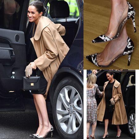 Meghan wearing Gianvito Rossi Plexi pumps #lucite #heels #dance #pumps   #LTKshoecrush #LTKstyletip