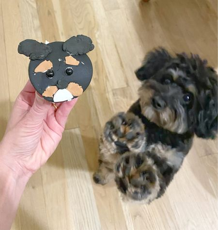 """I tried so hard to get a picture with these two in focus and Motley tried so hard just to get a taste! 😂 Our daughter created this cupcake topper with a DIY Fondant Critter Kit. Didn't she do a great job?! 🐶🐶👏🏼👏🏼 This kit, I just noticed is listed as a """"Lmited Time Deal"""". It's normally $15 and right now it's💲4️⃣‼️ If you've got an aspiring cake artist with 1 week of summer left, this was fun and I've added a link to it in my profile 👉 @tellittoyourneighbor so you can take a look at it. Or take a screenshot and find me in the @shop.ltk app! Thank you!  #LTKbacktoschool #LTKkids #LTKfamily"""