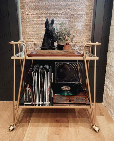 Record player  // bar cart. Living room home decor.     #LTKhome #LTKstyletip