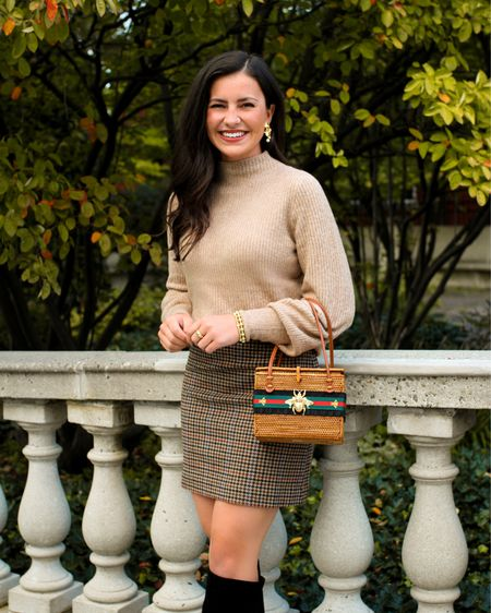 Loving this affordable fall look from J. Crew Factory! 🍂 #fallsweaters #houndstooth #fallskirt #fallstyle   #LTKworkwear #LTKunder100 #LTKunder50