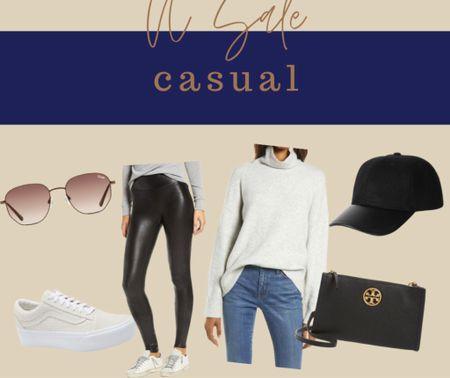NSale Nordstrom sale Casual Errands Date outfit Tory burch Spanx legging Platform sneakers by vans Quay sunglasses Monochrome   #LTKSeasonal #LTKsalealert #LTKunder100