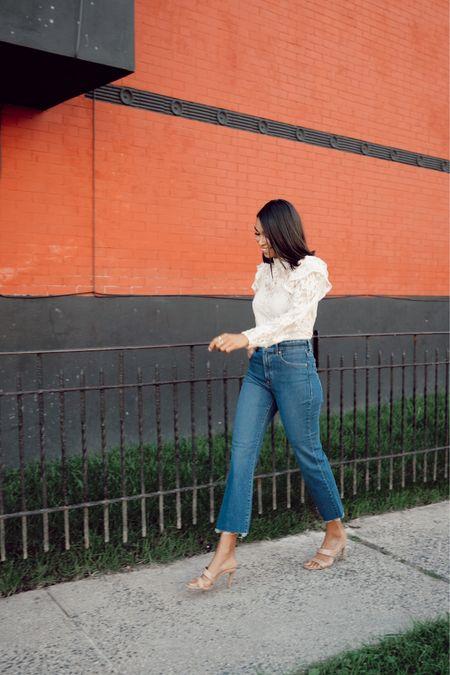 Lace top with jeans #liketkit http://liketk.it/2Y6QN @liketoknow.it #LTKunder50 #LTKunder100 #LTKstyletip