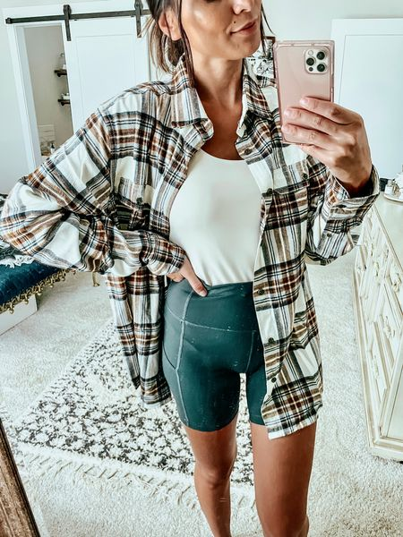 Getting fall ready in this oversized flannel for only $9!! Got this in the men's section in a size medium for a oversized look   #LTKunder50 #LTKstyletip #LTKmens