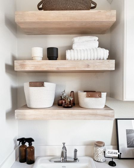 Laundry room decor, laundry room style, shelf styling, home accessories, neutral home decor, StylinAylinHome  #LTKstyletip #LTKunder100 #LTKmens