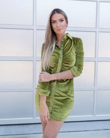 Amazon fashion Amazon finds ruched velvet dress gold bracelets  #LTKsalealert #LTKstyletip #LTKunder50